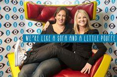 We're like a sofa and a little pouffe