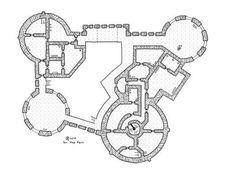 Airain-castle-floor2, rpg map, floor plan, kosmic Dungeon