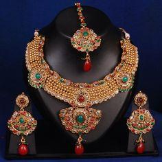 Swarajshop - Beautiful Kundan Jewellery set