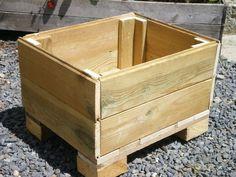 Bac fleur en bois de palette co id es pinterest - Fabriquer une jardiniere en bois de palette ...