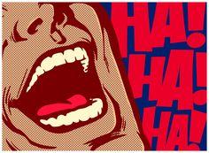 Pop art style comics panel mouth of man laughing out loud comedy lol vector illustration Comic Kunst, Comic Art, Comic Books, Art Pop, Lidl, Farm Jokes, Franz Josef Strauss, Modern Farmer, Comic Book Style