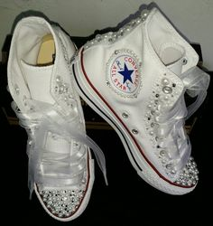 Bridal Custom Converse by DivineKidz on Etsy
