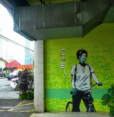 Street art in Honolulu Hawaii by Eddie Colla