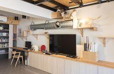 //客廳 //電視牆 基隆 28 坪懷舊感狹長公寓改造 - DECOmyplace 新聞