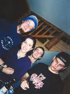 Jimmy, Val, M. Shadows and an unknown guy behind. (?)