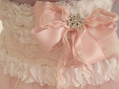 pink shabby chic bow