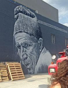 By ECB  Street art work in Brooklyn, New York City. Graffiti is widespread - with many murals, wheatpastes and stencils.