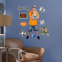 Extreme fun with WWE Fatheads Jr at http://sportsdecorating.com.  Decorate with wrestling for $49.99