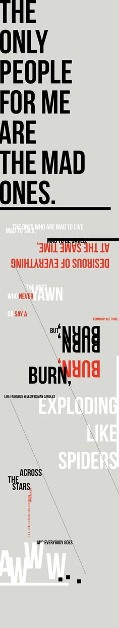 The Mad Ones // Type Poster on Behance