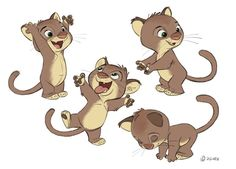 Borja Montoro Character Design: Zootopia II Some more Zootopia designs. First, some Baby Cats. Expressions, poses and turn arounds...