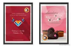 """Valentine Day Poster Design for """"the chocolate room"""" by Purple Phase Communications. www.purplephase.in"""