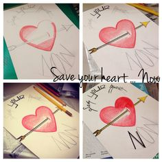 Save your heart… Now! Illustration on paper For sale: changestyle7@gmail.com
