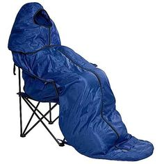Cold weather camping chair.