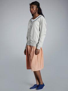 Striped Knit, Knit Cardigan, Midi Skirt, Knitting, Skirts, Clothes, Design, Women, Fashion