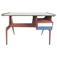 Mid Century Retro Vintage Gio Ponti Style Sculptural Desk | Pinned by 360 Modern Furniture