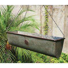 International Multicolored Metal Hanging Plant Basket (Set of 3) (Hanging Plant Baskets), Multi #FH1526, Outdoor Décor
