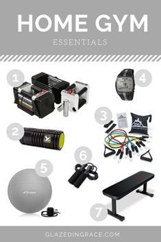 Home gym essentials. Everything you need for a basic home gym setup. Quick Workout At Home, Best Home Workout Equipment, Workout Room Home, Cardio Equipment, Workout Rooms, Home Multi Gym, Gym Workouts, At Home Workouts, Gym Setup