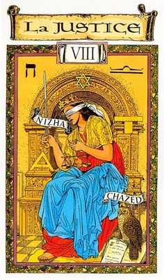 Justice - Tarot des Templiers by Jean-Louis Victor, Willy Vassaux