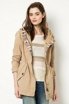 Tuscan Colourblock Parka #anthropologie (Beige)