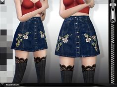 MFS Layla Skirt at Missfortune Sims via Sims 4 Updates