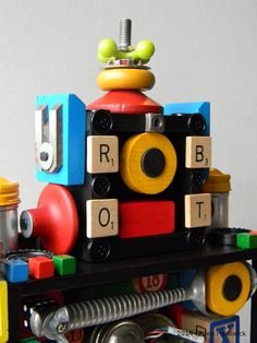 B. Bot  3D Recycled Assemblage  Found Object Art by redhardwick