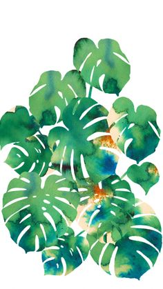 Watercolor plant