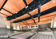 Ceilings Plus. Garden City High School Auditorium • Design: DLR Group  TOO WASHED OUT - GRAY CHAIRS/WALLS, ETC.   NEED MORE CONTRAST