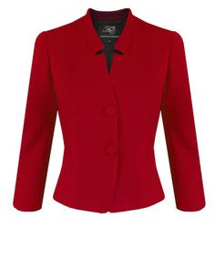 Anthea Crawford Scarlet Stretch Ponti Jacket