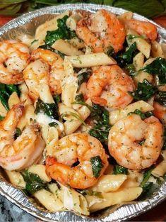 Best Pasta Dishes, Shrimp Dishes, Tasty Dishes, Shrimp Pasta Bake, Garlic Shrimp Pasta, Penne Shrimp Recipe, Easy Shrimp Pasta Recipes, Shrimp Dinner Recipes, Cajun Shrimp