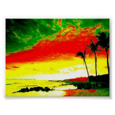 Jamaica Poster #colors #beach #tropic #zazzle