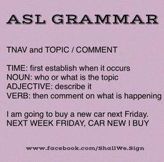 Tomorrow, cat black goes to vet. ASL Grammar