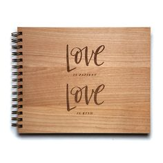 Love is Patient Love is Kind wedding album