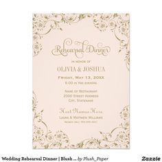 Wedding Rehearsal Dinner   Blush Pink and Gold