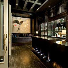 Interior design by Munge Leung. Restaurant Lounge, Bar Lounge, Restaurant Design, Thai Restaurant, Home Bar Designs, Home Design Plans, Cafe Bar, Cafe Shop, Hotel Interiors