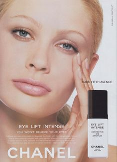Kirsty Hume, Eye Lift, Chanel Beauty, Dark Circles, Ads