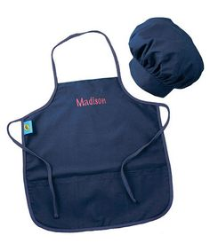 Take a look at this Denim Personalized Chef Hat & Apron Set by Princess Linens on #zulily today!14