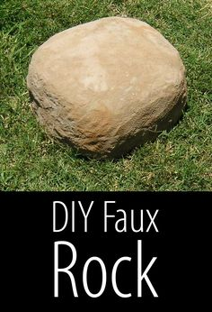 Make your own secret hide-a-key stash in a fake rock.