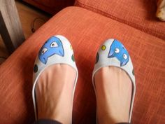 Painted Cat Flat Shoes