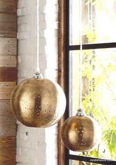Roost Constellation Brass Pendant Lamps, Lanterns & Votive Holder