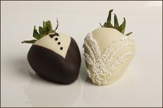 Wedding Favors ... chocolate dipped strawberries  ... Wedding ideas for brides, grooms, parents & planners ... https://itunes.apple.com/us/app/the-gold-wedding-planner/id498112599?ls=1=8 ... plus how to organise your entire wedding ... The Gold Wedding Planner iPhone App ♥