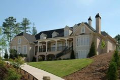 Luxurious Manor Home Plan - 15799GE | 1st Floor Master Suite, Bonus Room, Butler Walk-in Pantry, CAD Available, Corner Lot, Den-Office-Library-Study, European, Loft, Luxury, MBR Sitting Area, PDF, Photo Gallery, Sloping Lot, Traditional | Architectural Designs
