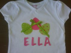 Custom boutique Easter egg applique by EverythingSorella on Etsy, $25.00