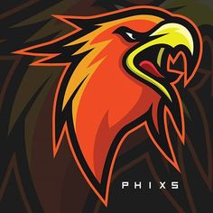 Phixs Logo Esport, Art Logo, Gfx Design, Graphic Design, Logo Luxury, Esports Logo, Sports Team Logos, Eagle Logo, Logo Sticker