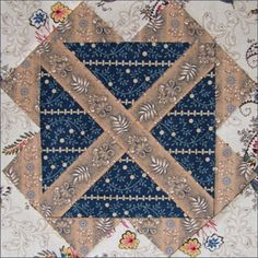 #4 Texas Tears by Becky Brown  Texas Tears is a variation of a quilt block printed about 1890 by the Ladies' Art Company, a St. Louis pattern ...