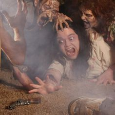 A horde of flesh eating ghouls fall upon a hapless woman who faces a fate worse than death knowing that a single bullet could have saved her this agony. Horror Photography, Vintage Photography, Halloween Horror, Halloween Art, Zombies, Joshua Hoffine, Zombie Attack, Zombie Art, Scary Stories