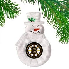 For our first Christmas tree! Boston Bruins Traditional Snowman Ornament
