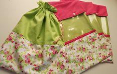 Saco roupa suja e envelopes roupa limpa