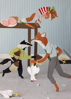 Fantastic Mr. Fox - 5x7 print by Roadside Prints....this would be fun in a child's room. Love Jayme's detail.