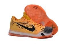 detailed look 05974 412d0 Nike Kobe 10 X Elite Low White Laser Orange Tumbled Grey shoes