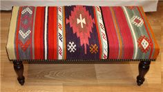 Beautiful Antique Anatolian Bench Kilim Stools, View one of the most comprehensive collections of Kilim Furniture, handmade traditional Kilim rugs, Kilim cushions and Kilim Footstools, with worldwide delivery. Rug Store based in London UK